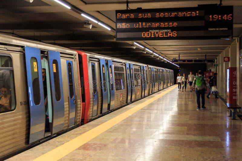 Lisbon Metro train royalty free stock image