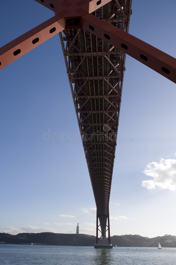Lisbon mostu obrazy royalty free