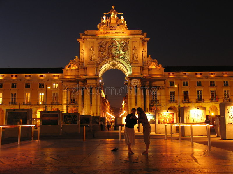 Download Lisbon by night stock photo. Image of lisbon, exibition - 186116