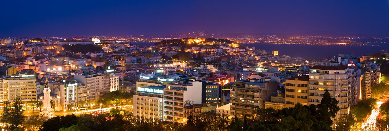 Lisbon At Night Editorial Stock Image