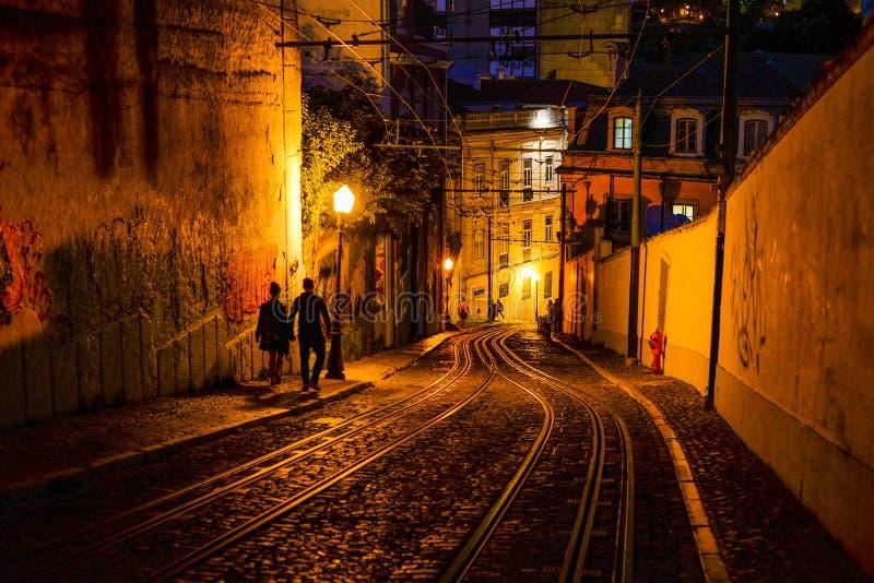 Lisbon at night - Lisbon, Portugal royalty free stock photo