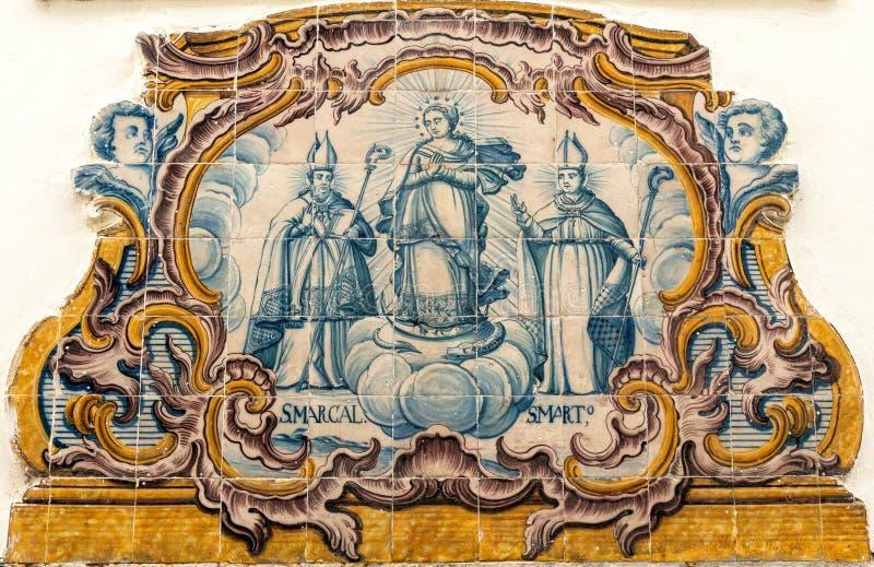 Lisbon płytki praca obrazy royalty free