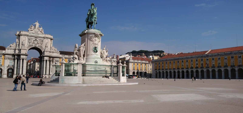 lisbon panorama obrazy royalty free