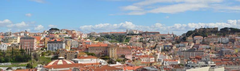 Lisbon panoramiczny widok obrazy royalty free