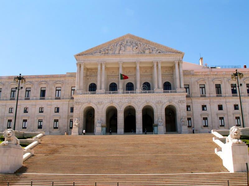 lisbon parlament arkivfoton
