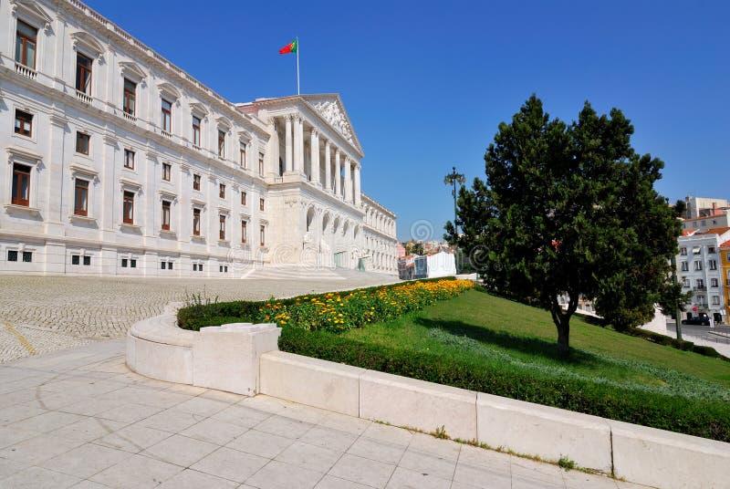 lisbon parlament portugal arkivfoton