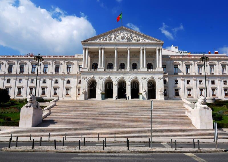 lisbon parlament portugal royaltyfri bild