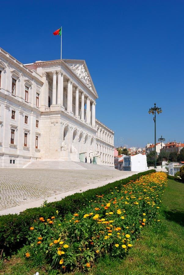 lisbon parlament portugal fotografering för bildbyråer