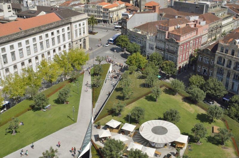 Lisbon Plaza in Porto stock photos