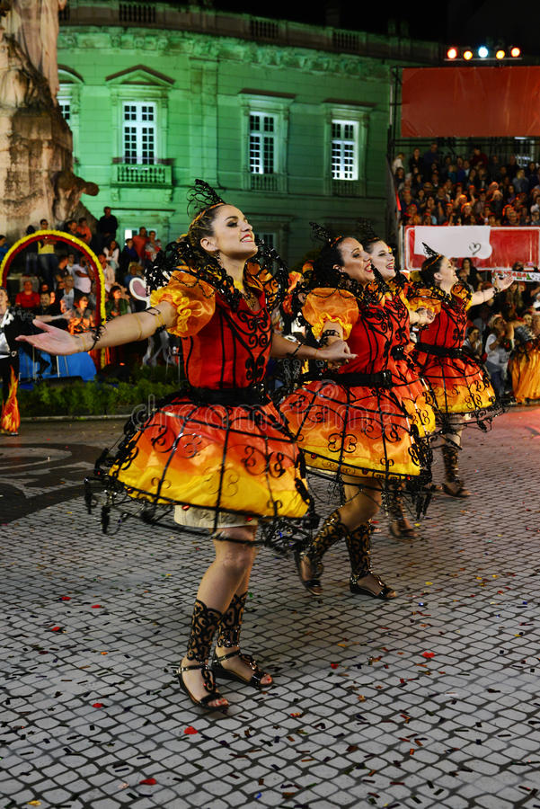 Free Lisbon Popular Parade, Old Neighbourhoods Festivities, Summer Stock Photography - 79937392