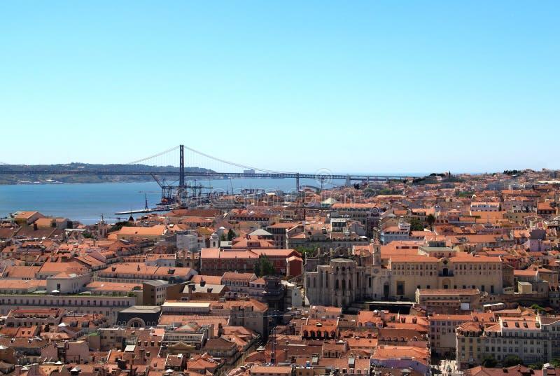 Lisbon Portugal, 25th av den April bron arkivfoton
