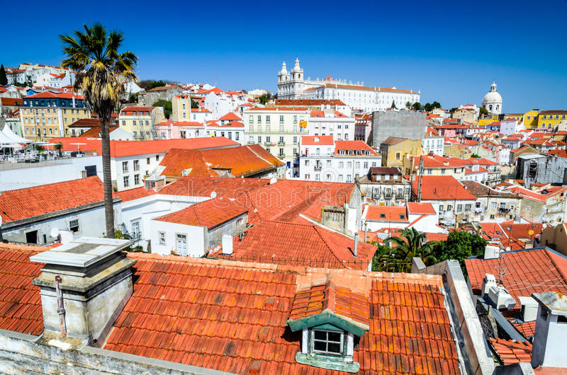 Lisbon, Portugal - Alfama district royalty free stock photo