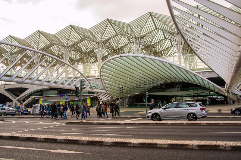 Oriente subway station in Lisbon royalty free stock photo