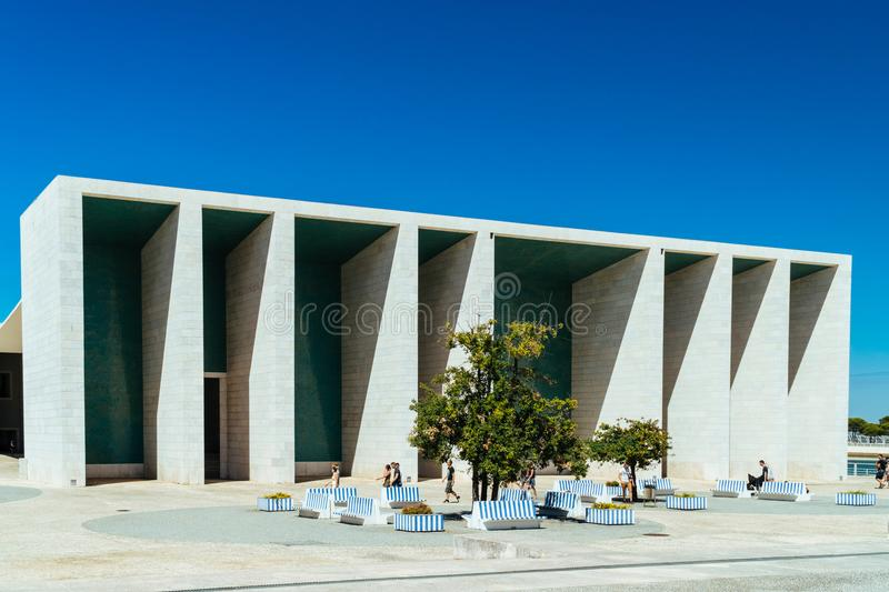 Portuguese National Pavilion In Lisbon By Alvaro Siza Vieira. LISBON, PORTUGAL - AUGUST 10, 2017: Portuguese National Pavilion In Lisbon Was Built By Alvaro Siza stock image