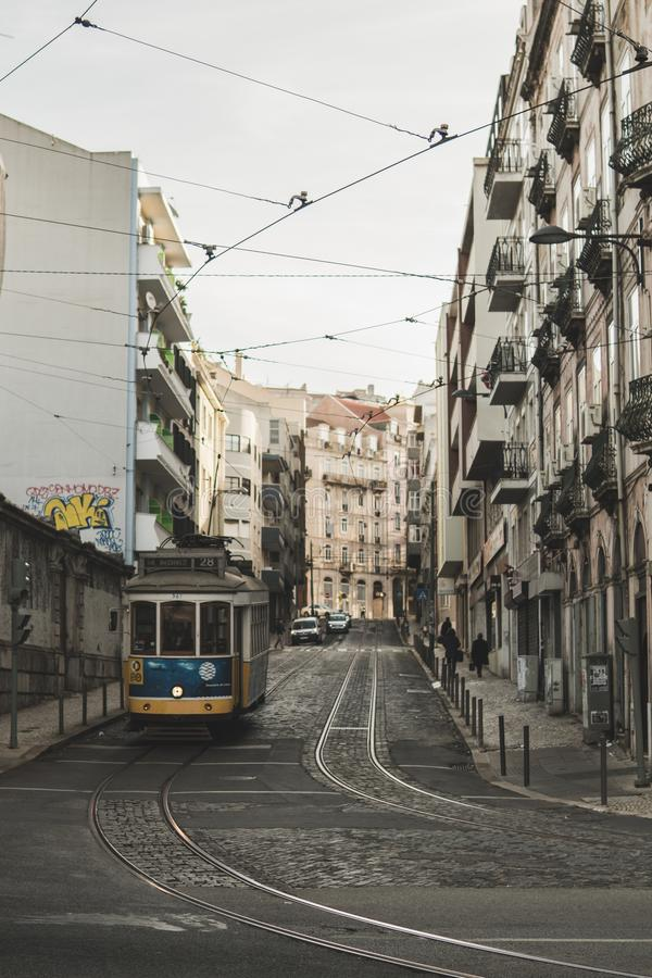 Lisbon, Portugal - December 22, 2018: Streets of beautiful Lisbon royalty free stock image