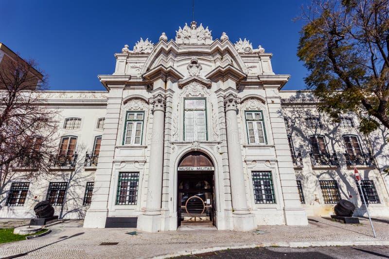 Lisbon, Portugal - Entrance of the Military Museum of Lisbon - Museu Militar de Lisboa. royalty free stock photos