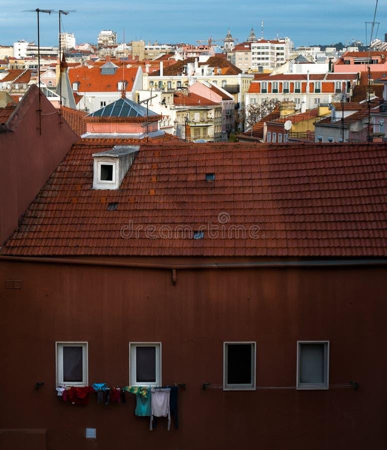 lisbon portugal Ett liv royaltyfri bild