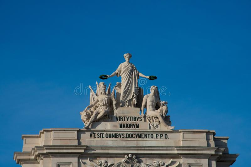 Statue of Glory rewarding Valor and Genius royalty free stock photography