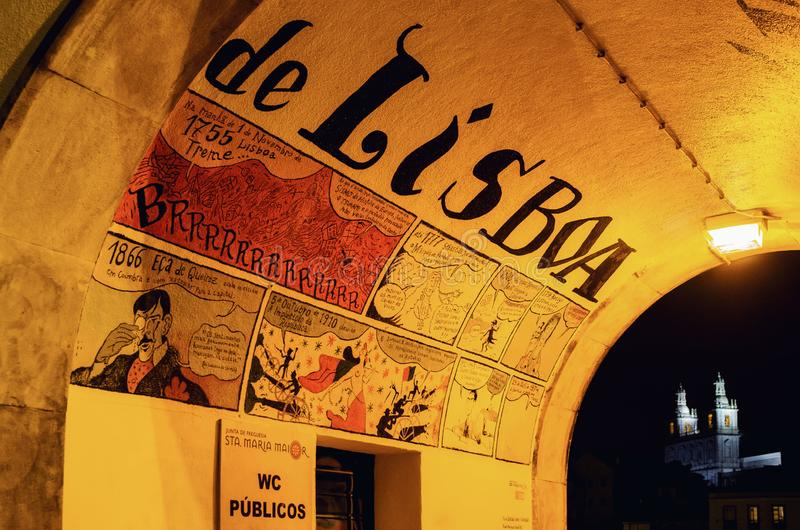 Street art in Lisbon, Portugal royalty free stock image