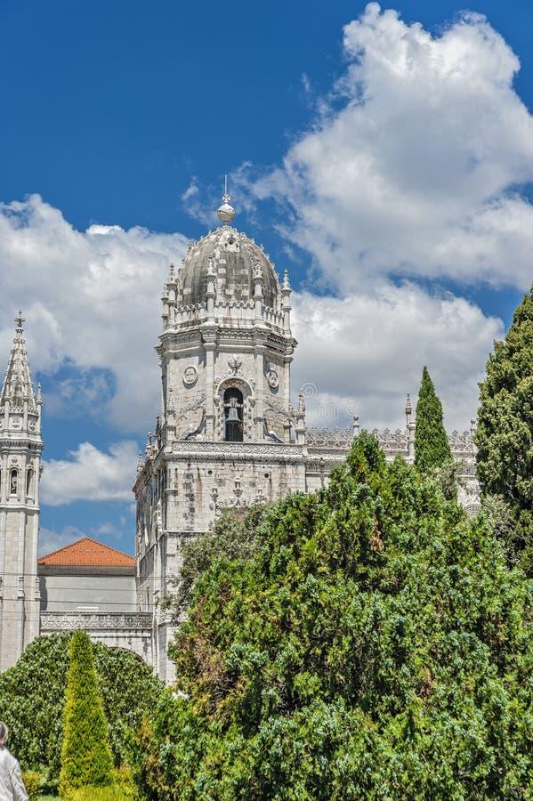lisbon portugal Jeronimos kloster royaltyfri fotografi