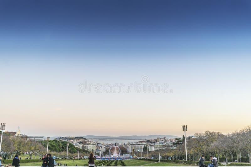 LISBON/PORTUGAL - 25 2017 MAJ - Gigantyczny koło rozrywkowa norma obrazy royalty free