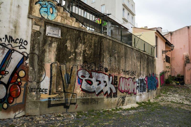 Alfama quarter, Lisbon royalty free stock images