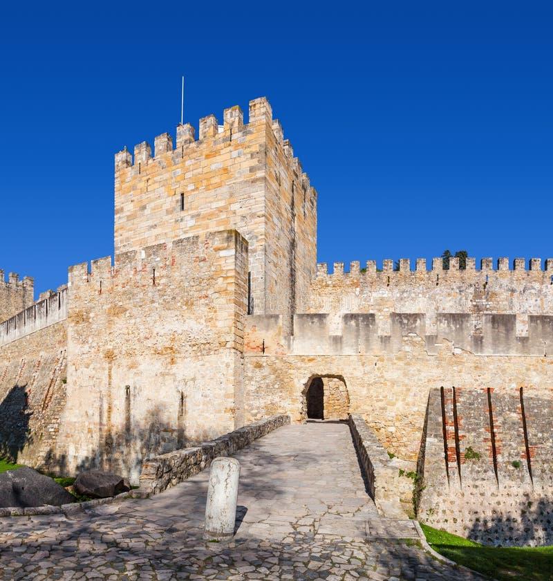 Lisbon Portugalia, Castelo De Sao Jorge, - aka świętego George kasztel Wejście Castelejo zdjęcie stock