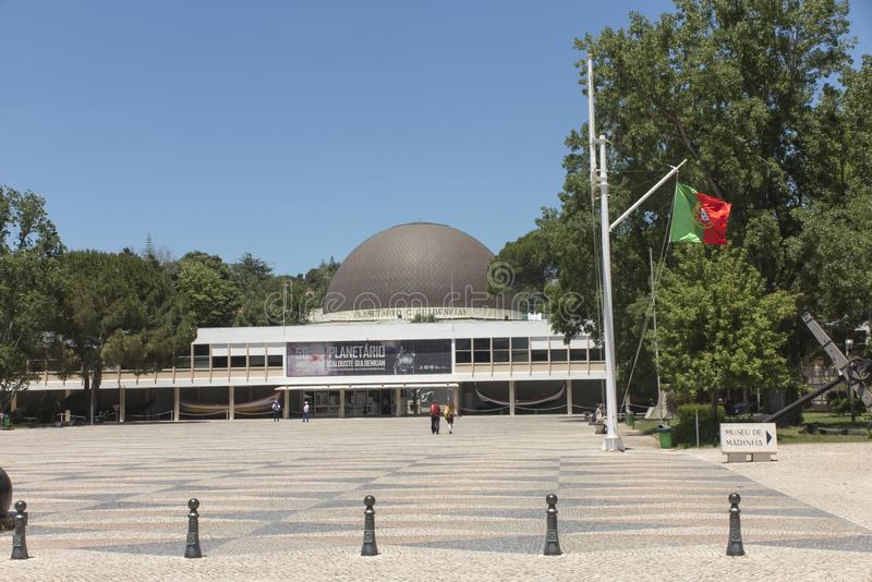 Lisbon, Portugalia, Czerwiec 16, 2018: Planetarium Calouste Gulbenkian przy Belem w Lisbon, Portugalia obrazy stock