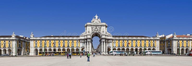 Lisbon, Portugalia - Praca robi Comercio aka Terreirro robi Paco kwadratowi obraz royalty free