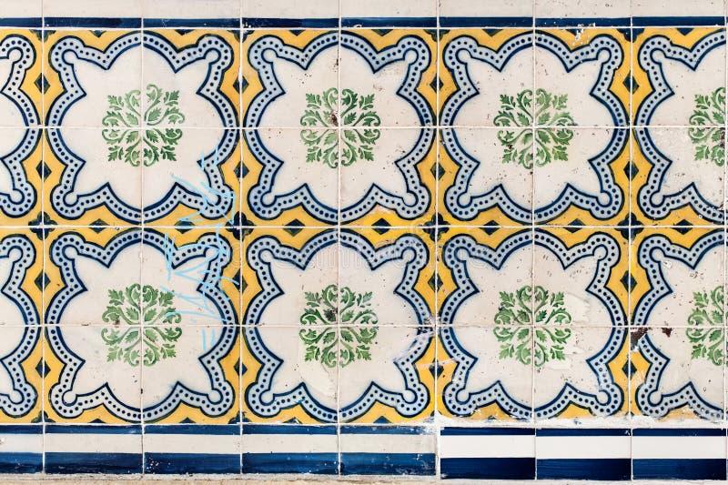 Lisbon Portugalia, Styczeń, - 18: Piękny Tradycyjny płytki azule obraz stock