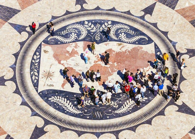 LISBON PORTUGALIA, WRZESIEŃ, - 9: Mozaiki mapa portugalczyk zdjęcia stock