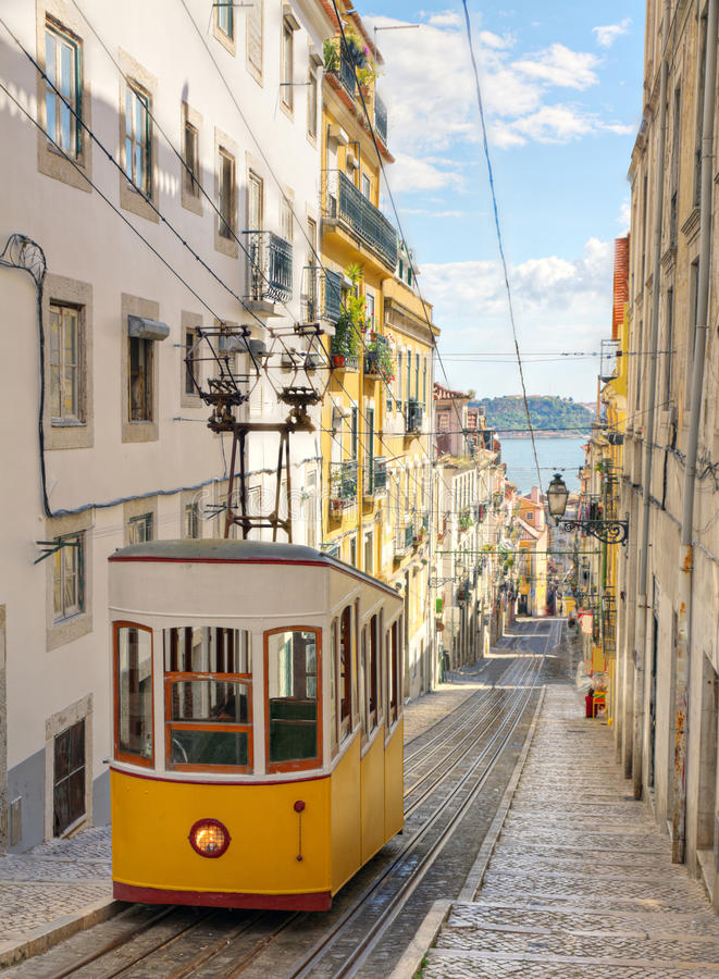 Download Lisbon's Gloria Funicular, Portugal Stock Photo - Image: 21686744