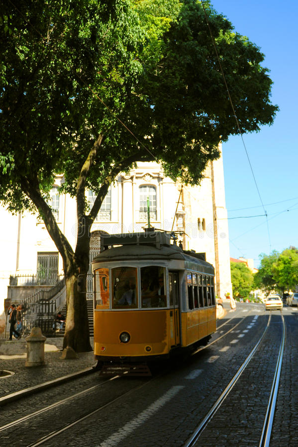 lisbon samochodowy tramwaj obrazy royalty free