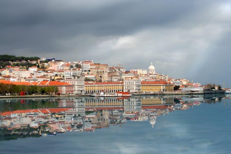 Lisbon skyline royalty free stock image