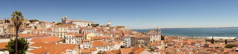 Lisbon skyline panorama royalty free stock photography