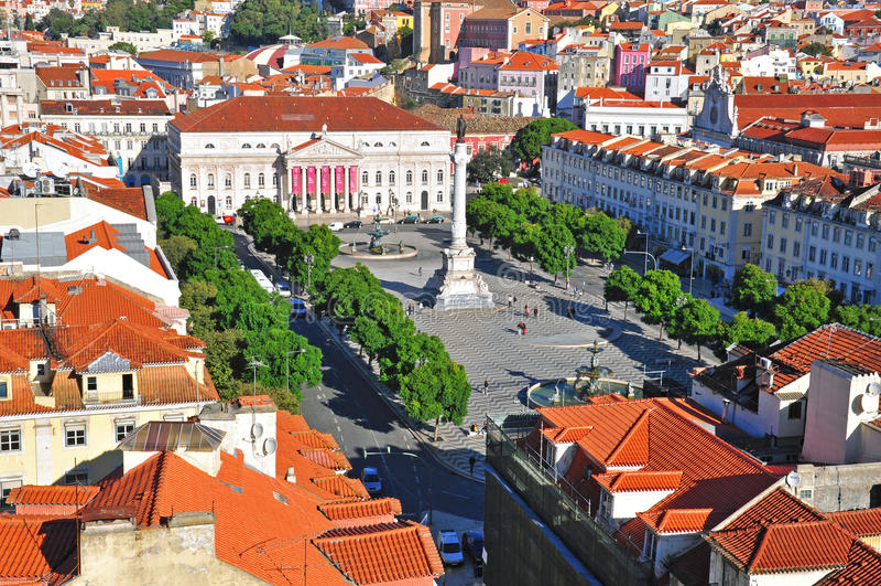 Download Lisbon skyline editorial image. Image of houses, europe - 40841300