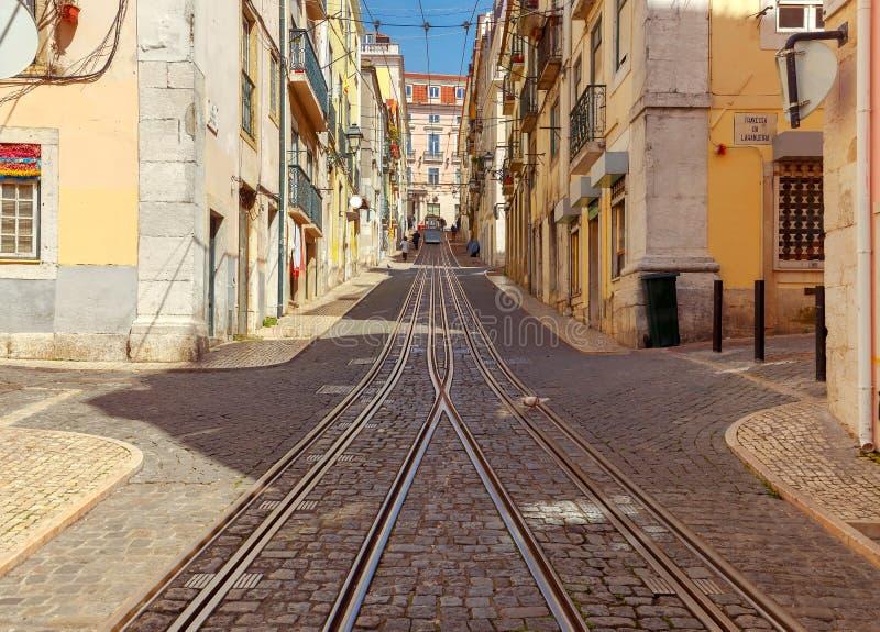 lisbon starych ulic zdjęcie stock