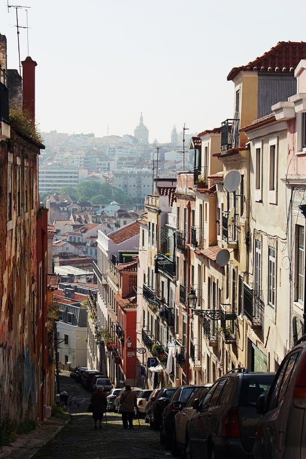 lisbon street zdjęcia royalty free