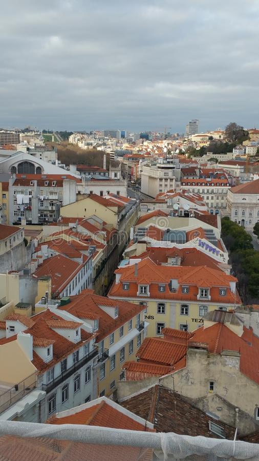 Lisbon street titled royalty free stock images