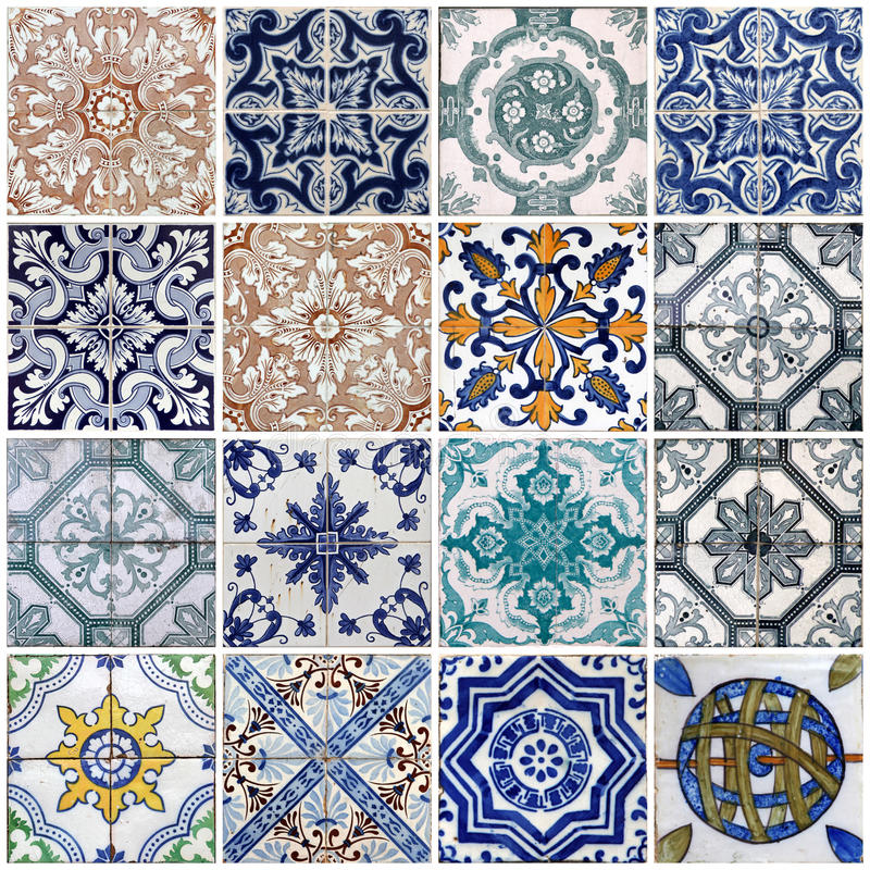 Free Lisbon Tiles Royalty Free Stock Photo - 19131115
