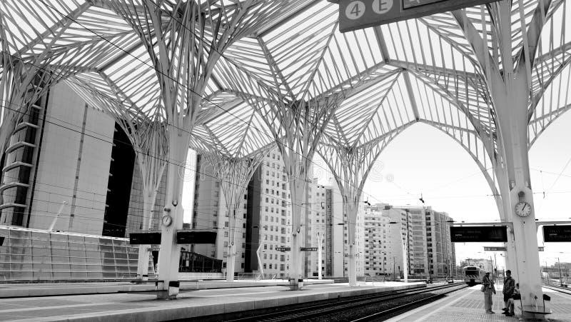 Lisbon train station stock photo