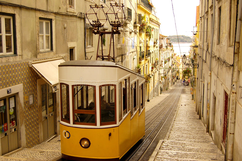 Lisbon tram royalty free stock photo