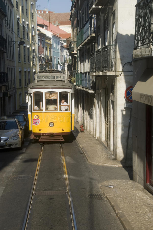 Download Lisbon tram editorial photo. Image of yellow, tourism - 14354476