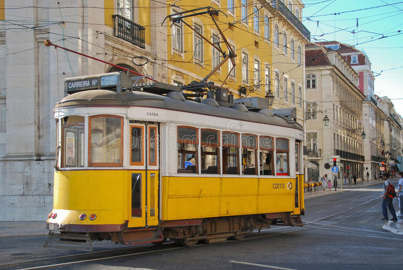Download Lisbon tram editorial photography. Image of typical, white - 21883112