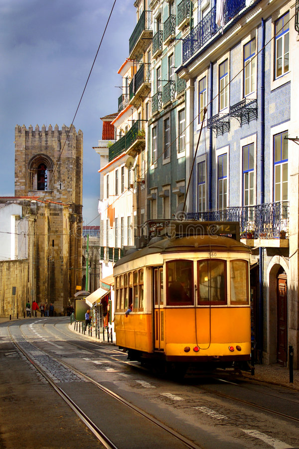 Download Lisbon Tram stock photo. Image of church, capital, houses - 7162620