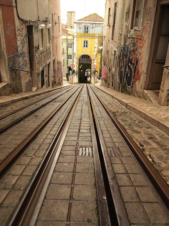 Download Lisbon tram railway stock image. Image of train, portuguese - 22979375