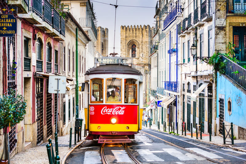 lisbon tramwaj obrazy royalty free