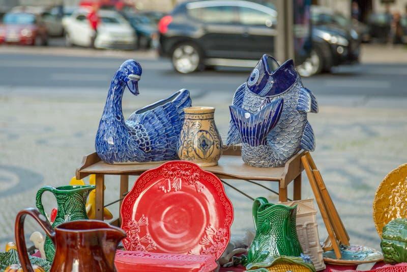 Lisbon Ucieka rynek zdjęcia royalty free