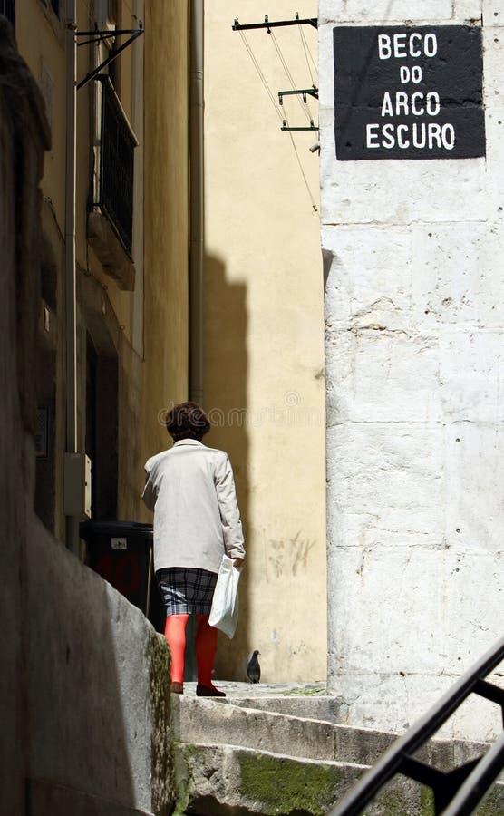 lisbon ulic fotografia royalty free