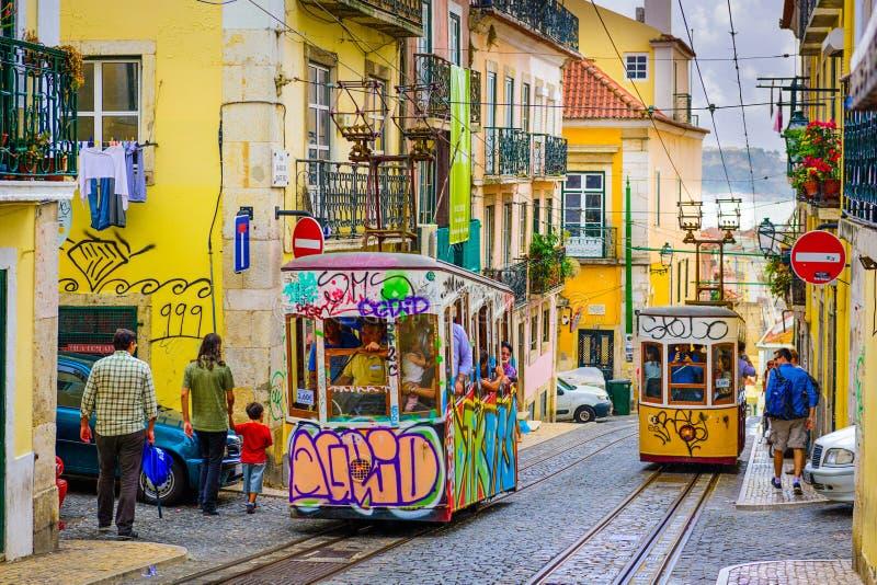 Lisbon ulicy scena obraz royalty free